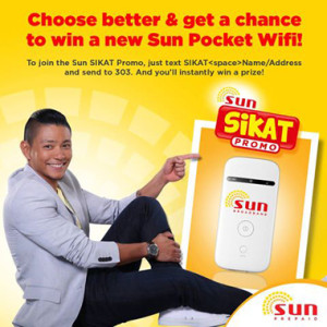 Win a Sun Pocket Wifi and Exciting Prizes from Sun Prepaid Sikat