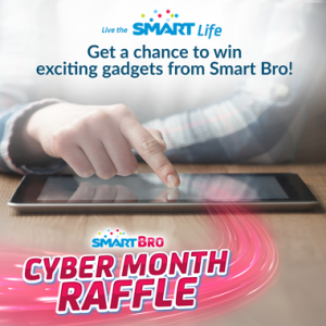 Win amazing gadgets with Smart Bro Cyber Month Raffle Promo