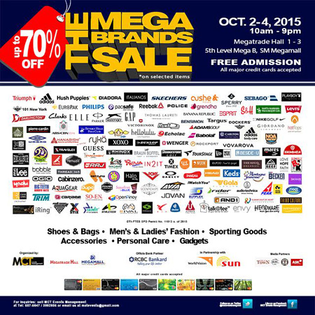 12th MegaBrands Sale 2015 happens at SM Megatrade Hall www_unlipromo_com