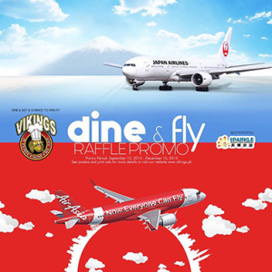 Join the Vikings Dine & Fly Raffle Promo 2015 www_unlipromo_com
