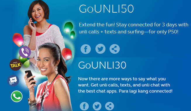Updated List of Globe Prepaid GoUNLI Promos