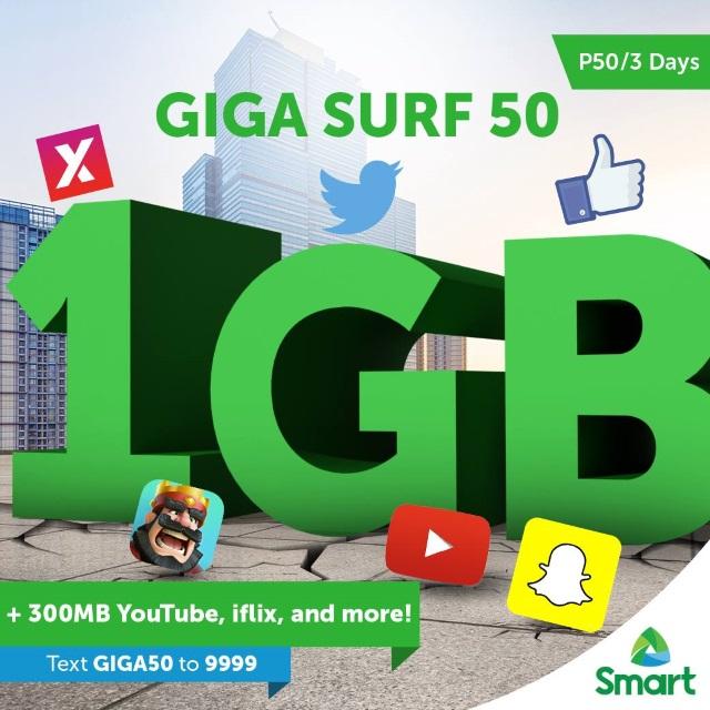 SMART Prepaid GIGASURF 50