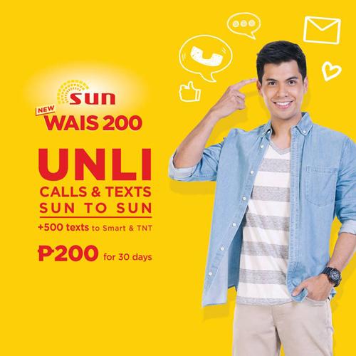 Sun Prepaid Wais 100 and Wais 200 www_UnliPromo_com